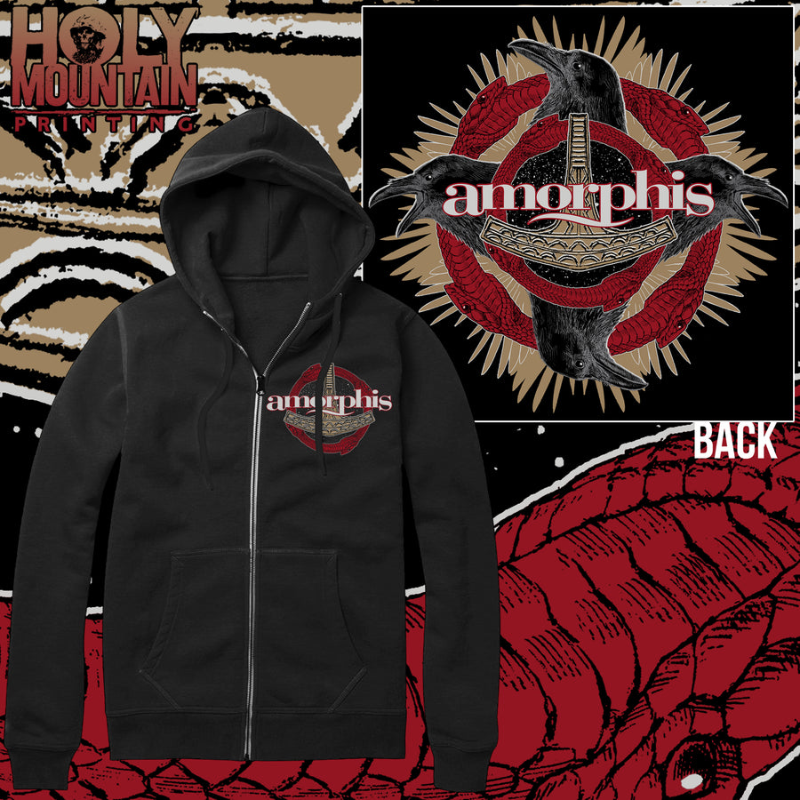 "AMORPHIS ""UKONVASARA"" ZIP UP SWEATSHIRT"