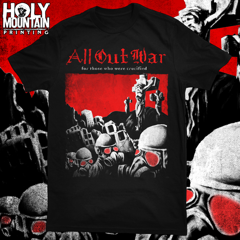 "ALL OUT WAR ""CRUCIFIED"" SHIRT"