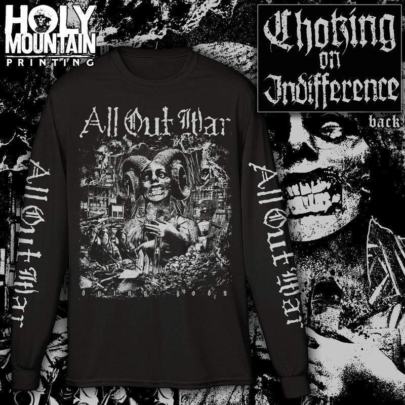 "ALL OUT WAR ""CHOKING"" LONG SLEEVE SHIRT"
