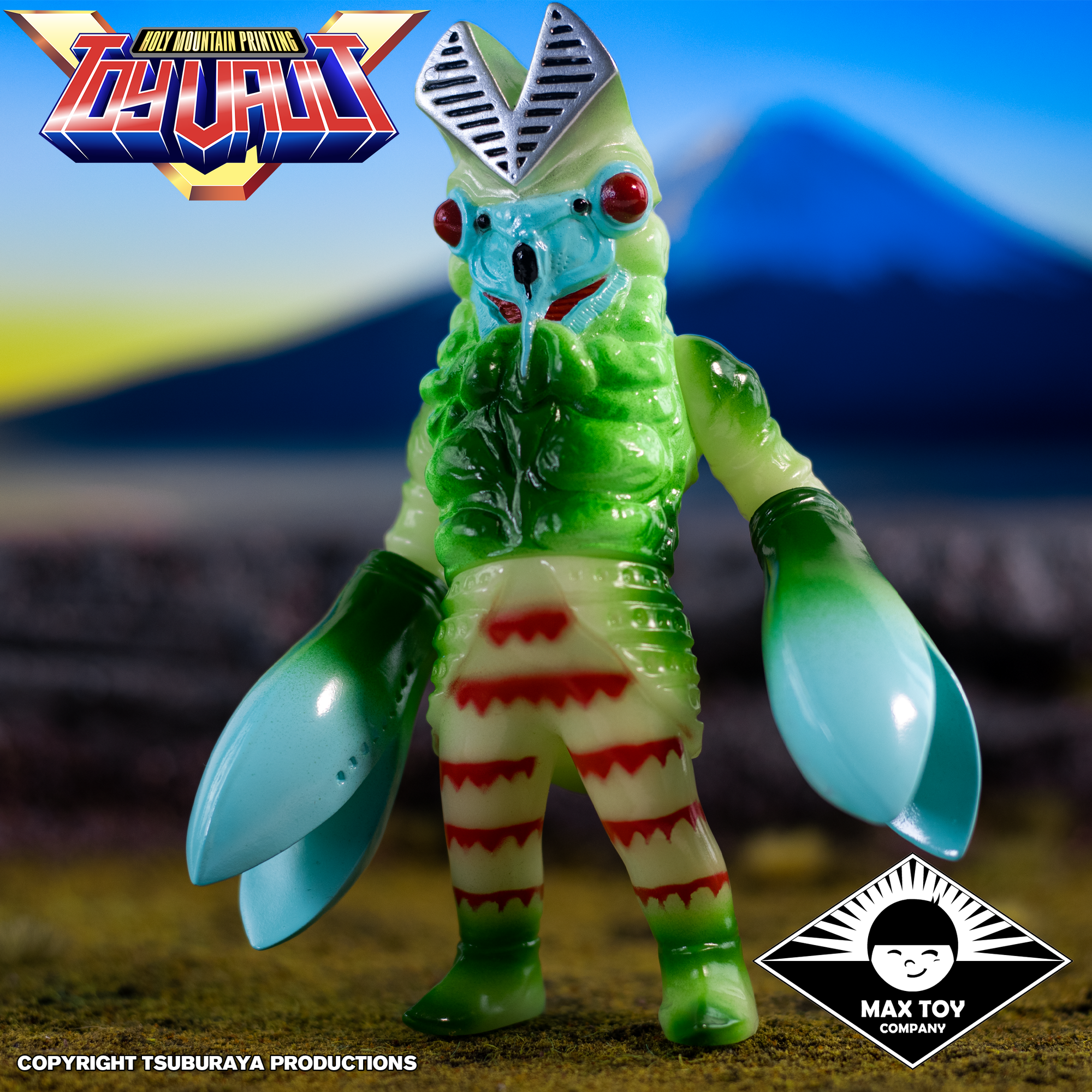 Alien Baltan Glow In Dark Version Tsuburaya Productions X Max Toy Ultraman - Sofubi Figure