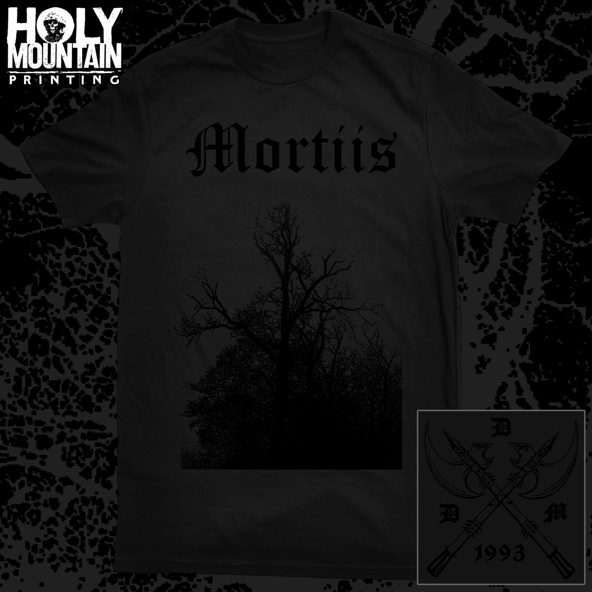 "MORTIIS ""BLACK ON BLACK"" SHIRT"