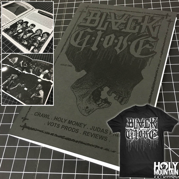 BLACK GLOVE ZINE AND SHIRT PACKAGE