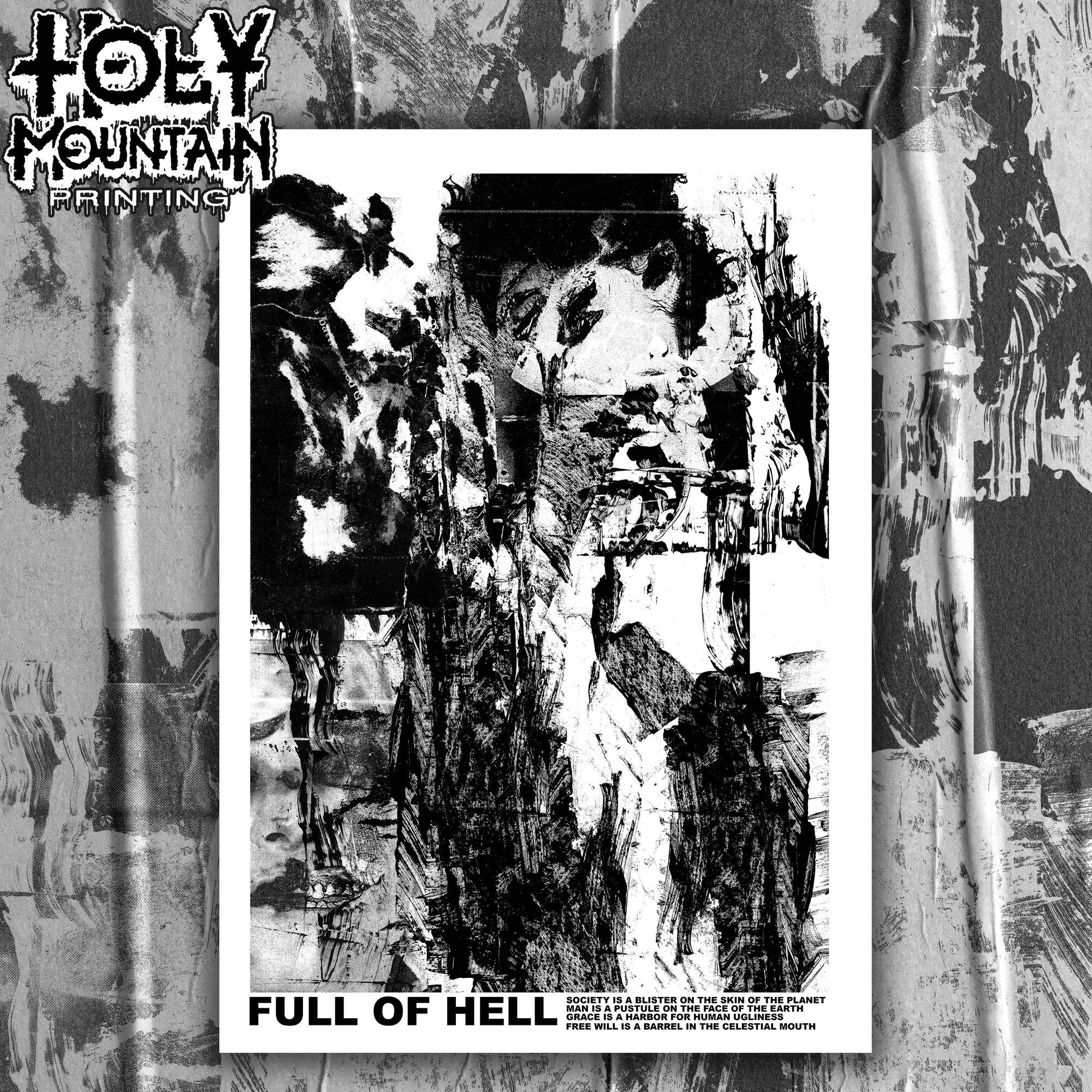 FULL OF HELL BLACK FRIDAY SCREEN PRINTED POSTER