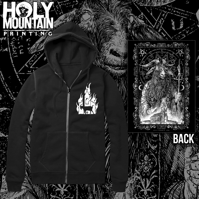 BURNING CHURCH ZIP UP SWEATSHIRT