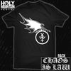 "YOUNG AND IN THE WAY ""CHAOS IS LAW"" SHIRT"