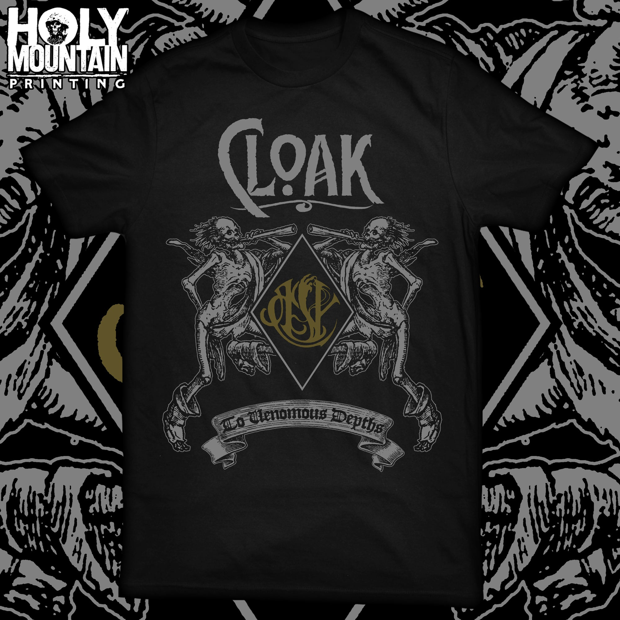"CLOAK ""SKELETON"" BLACK SHIRT"