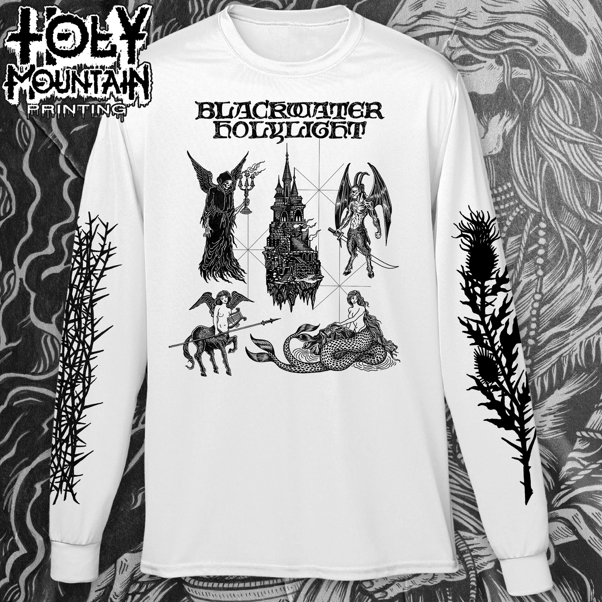 "BLACKWATER HOLYLIGHT ""CREATURES"" WHITE LONG SLEEVE SHIRT"