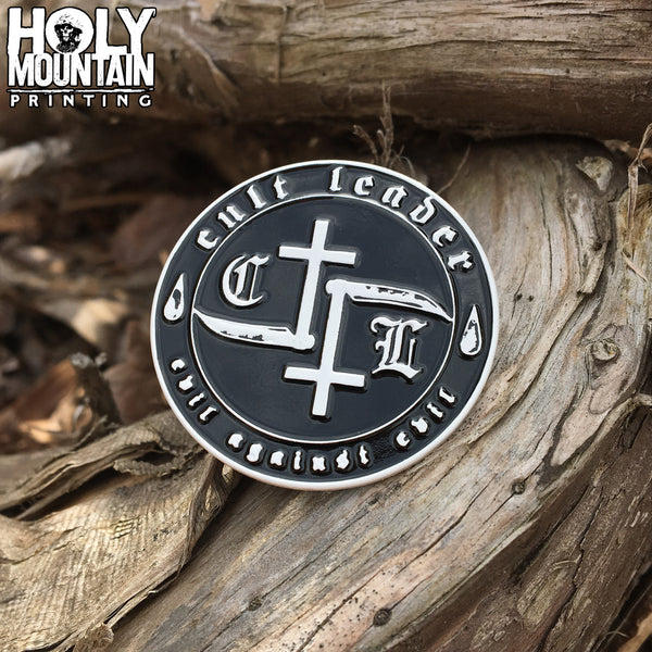 CULT LEADER METAL PIN