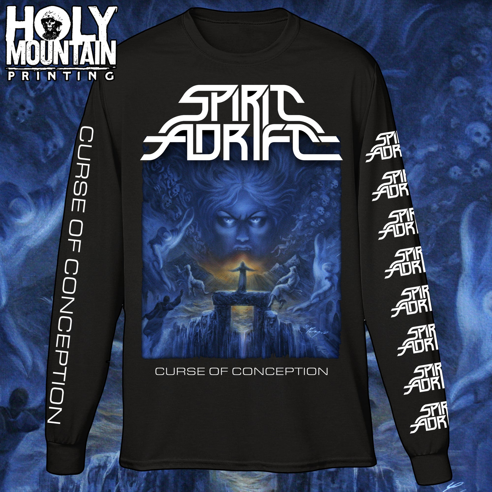"SPIRIT ADRIFT ""CURSE OF CONCEPTION"" LONG SLEEVE SHIRT"