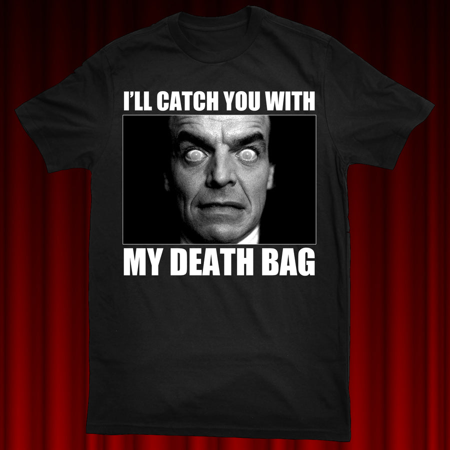 "LELAND PALMER ""DEATH BAG"" SHIRT"