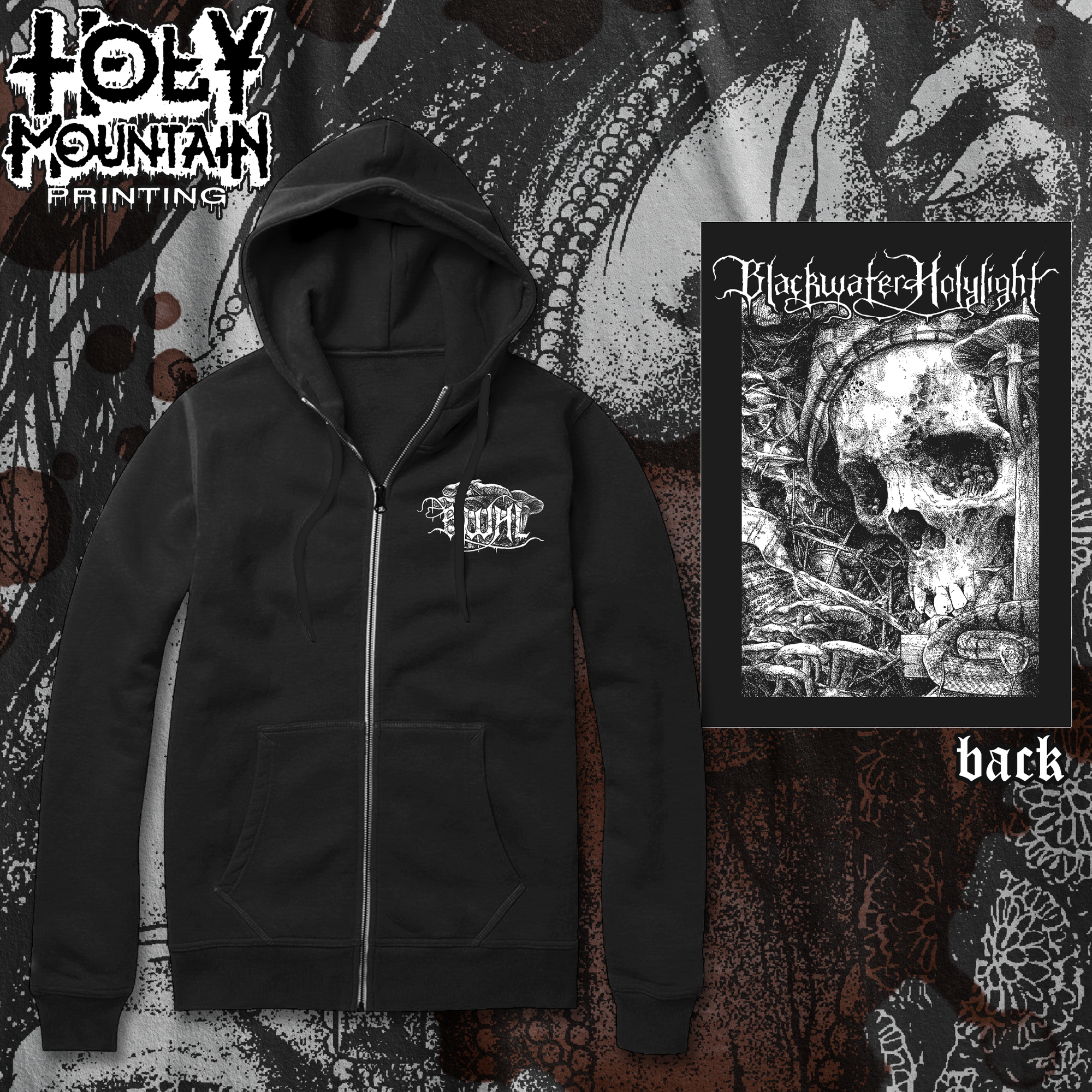 "BLACKWATER HOLYLIGHT ""DECAY"" ZIP UP SWEATSHIRT"