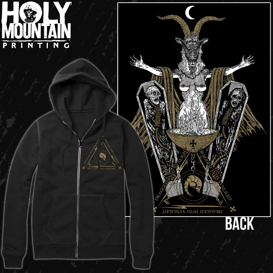 DRAGGED INTO SUNLIGHT COFFINS ZIP UP