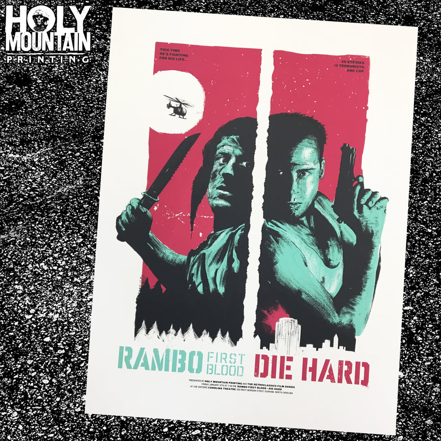 FIRST BLOOD / DIE HARD DOUBLE FEATURE POSTER
