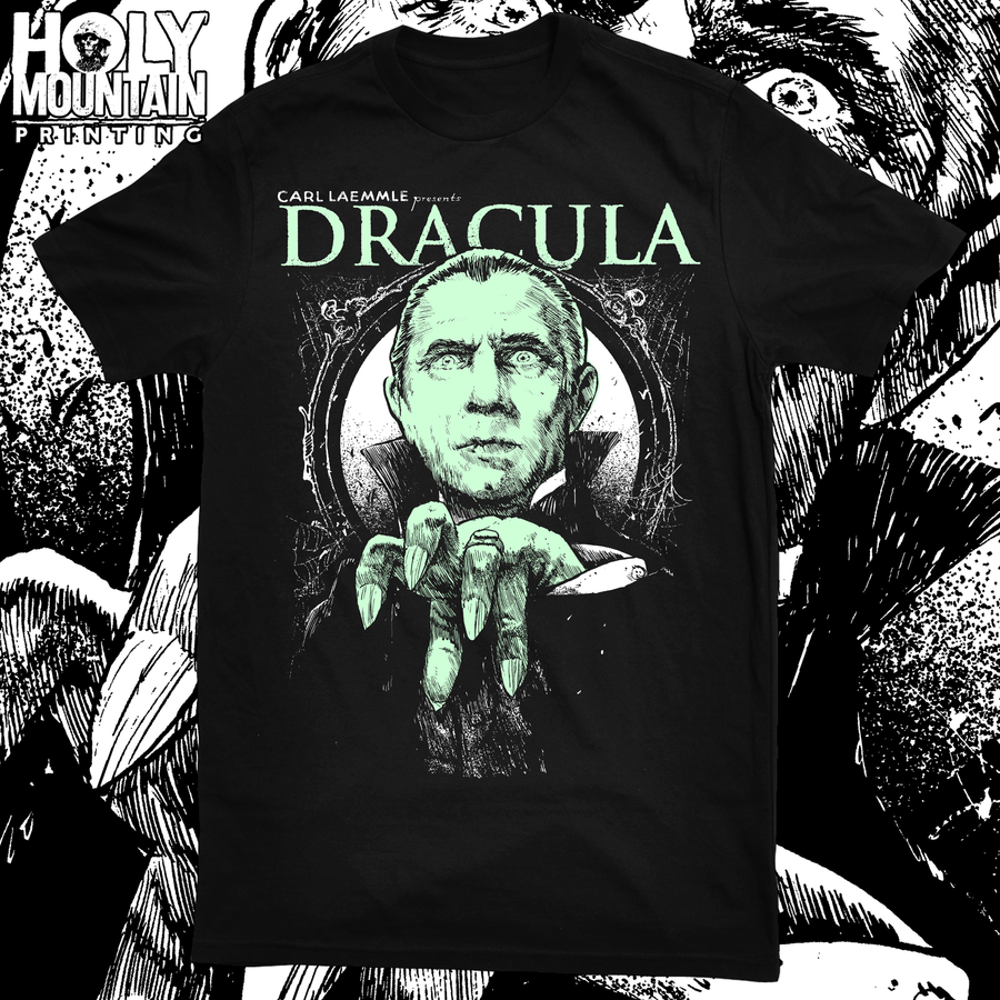 "ABACROMBIE INK ""DRACULA GLOW IN THE DARK"" SHIRT"