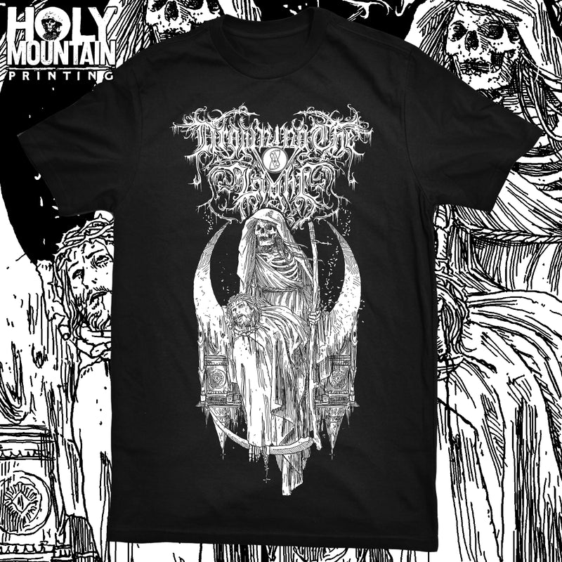"DROWNING THE LIGHT ""HEAD OF JESUS"" BLACK SHIRT"