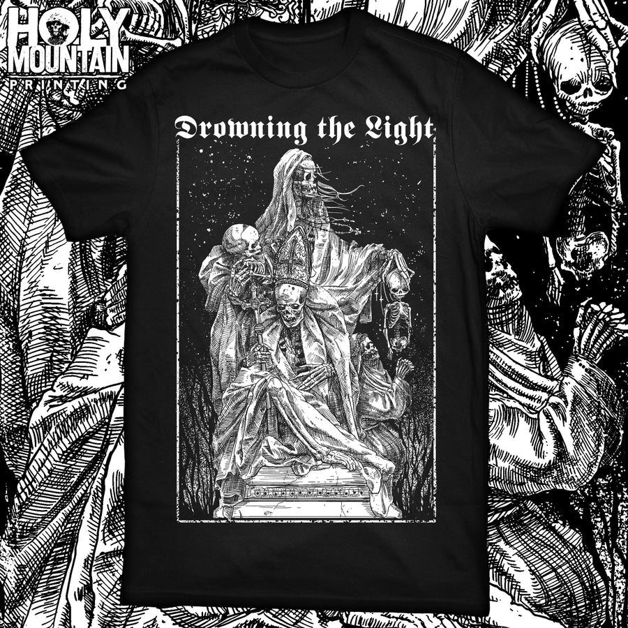 "DROWNING THE LIGHT ""UNHOLY TRINITY"" BLACK SHIRT"