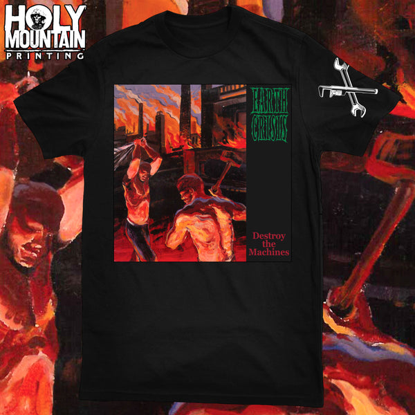 "EARTH CRISIS ""DESTROY THE MACHINES"" ALBUM COVER SHIRT"