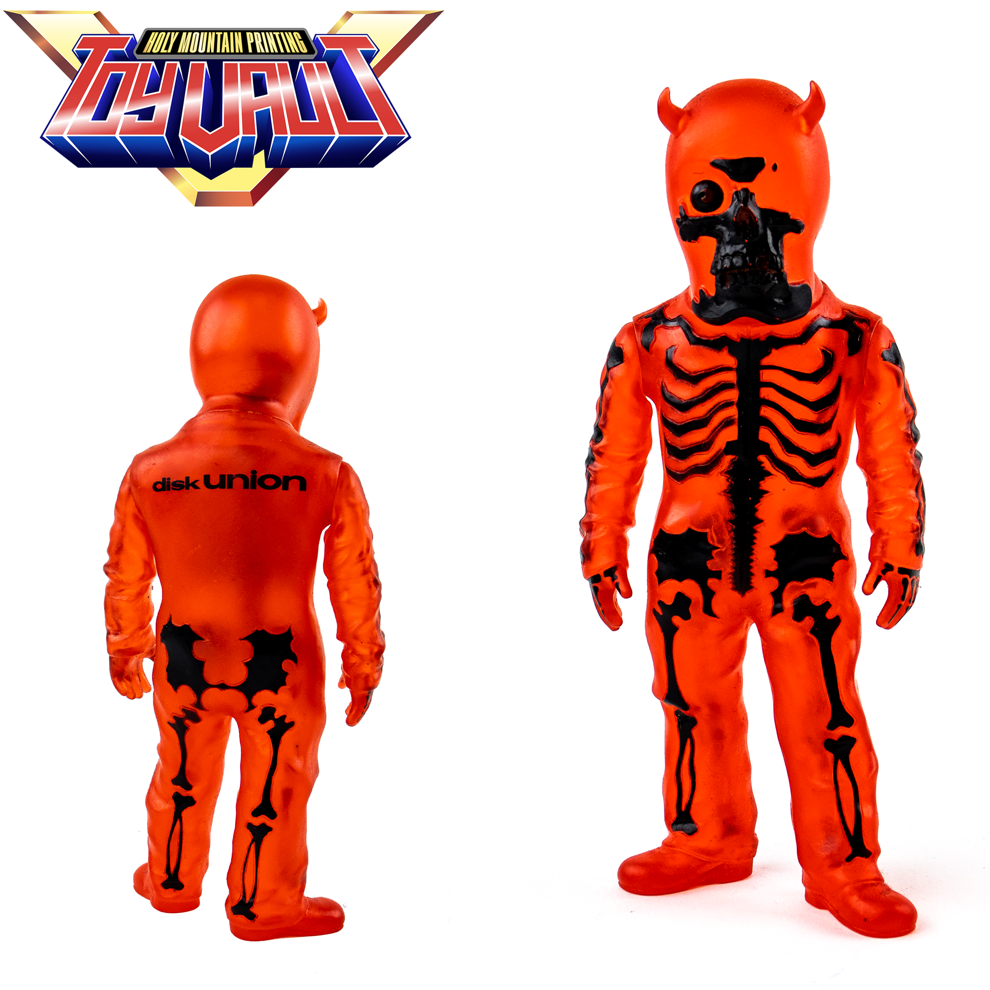 PRE-OWNED -SECRET BASE - BALZAC - SKULLMAN CLEAR RED SOFUBI