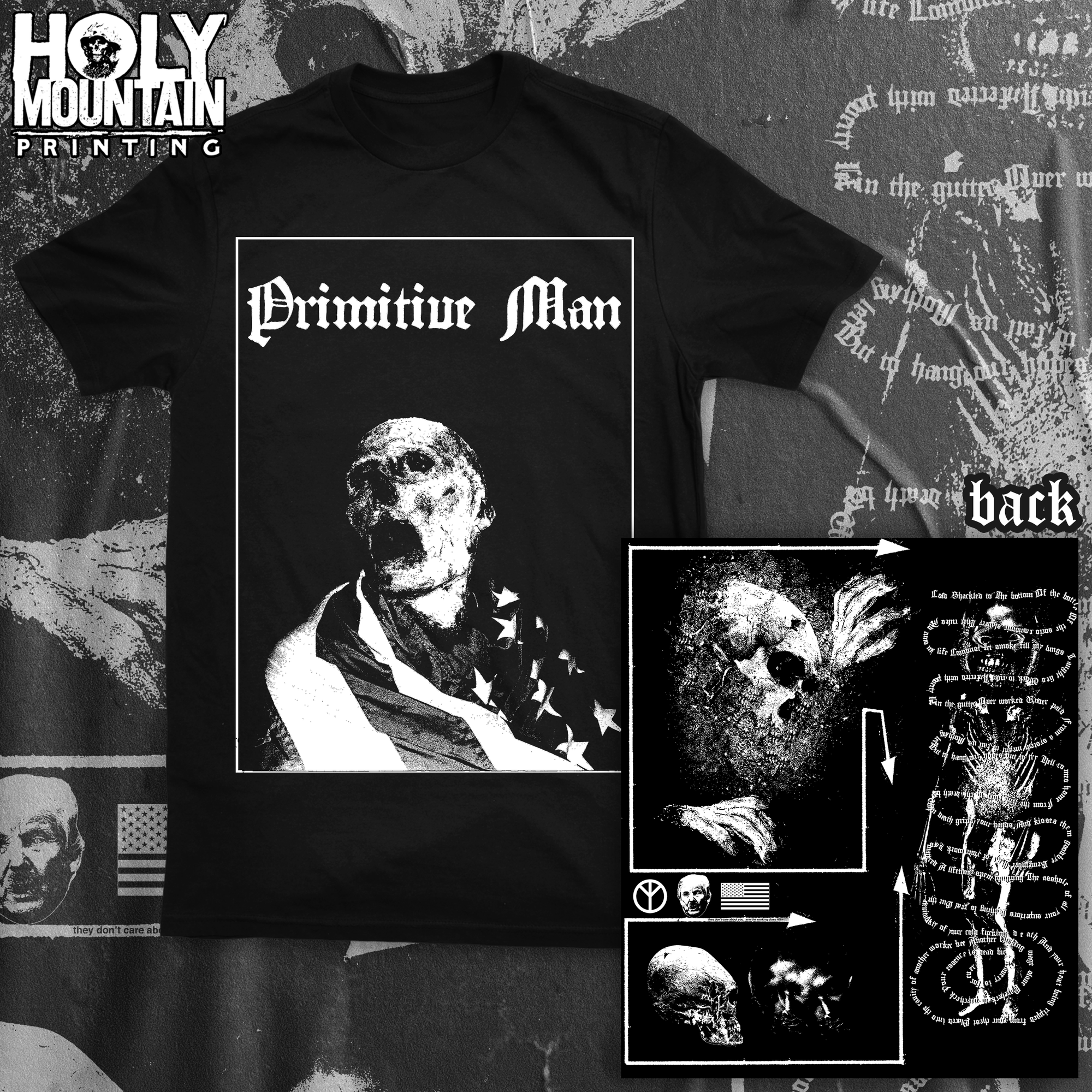 "PRIMITIVE MAN ""THEY DON'T CARE"" SHIRT"