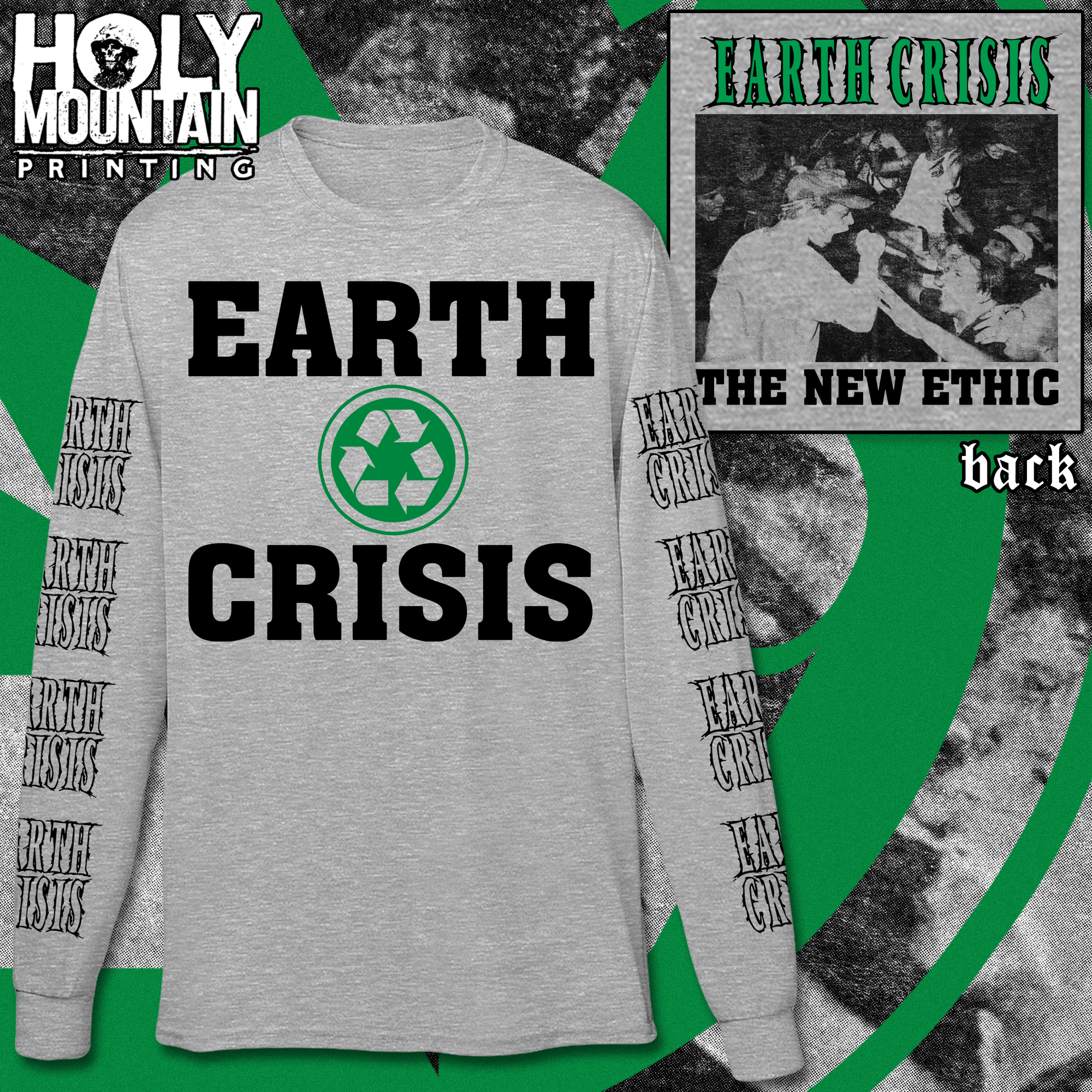 "EARTH CRISIS ""RECYCLE"" LONG SLEEVE SHIRT"