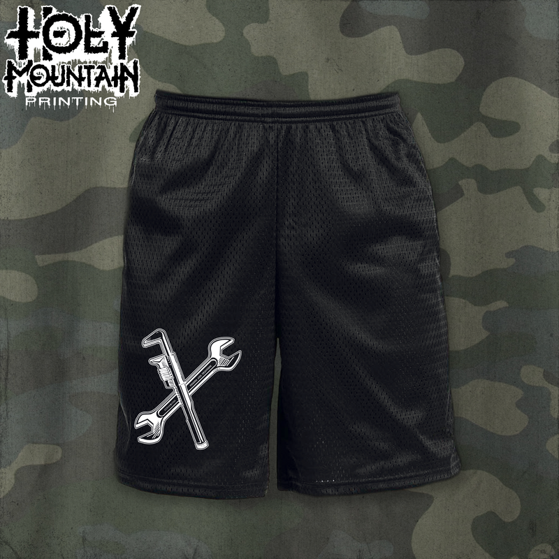 "EARTH CRISIS ""WRENCHES"" CHAMPION GYM SHORTS"
