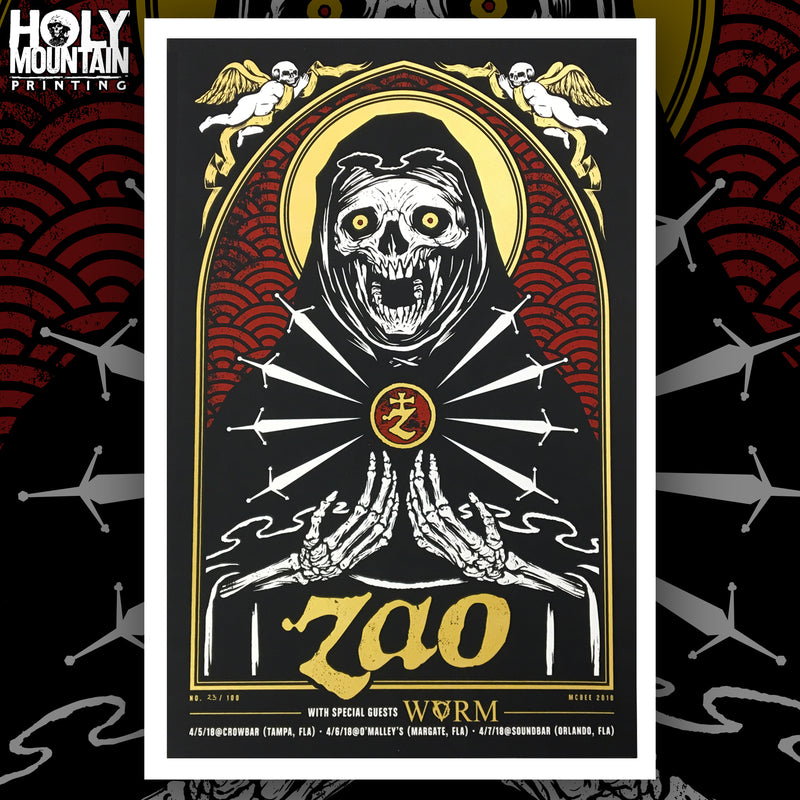 "ZAO ""APRIL 2018 TOUR"" POSTER"