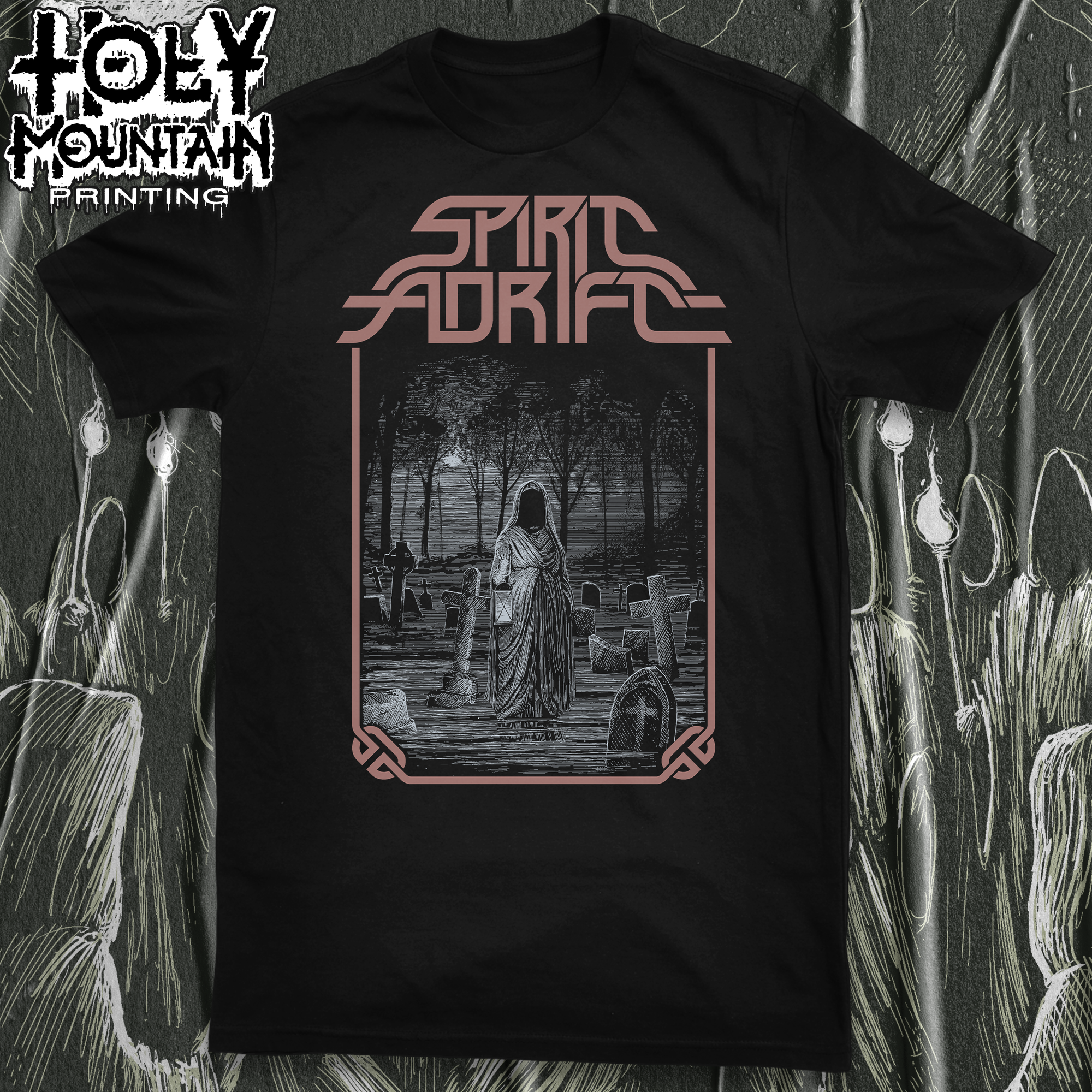 "SPIRIT ADRIFT ""GRAVESIDE INVOCATION"" SHIRT"