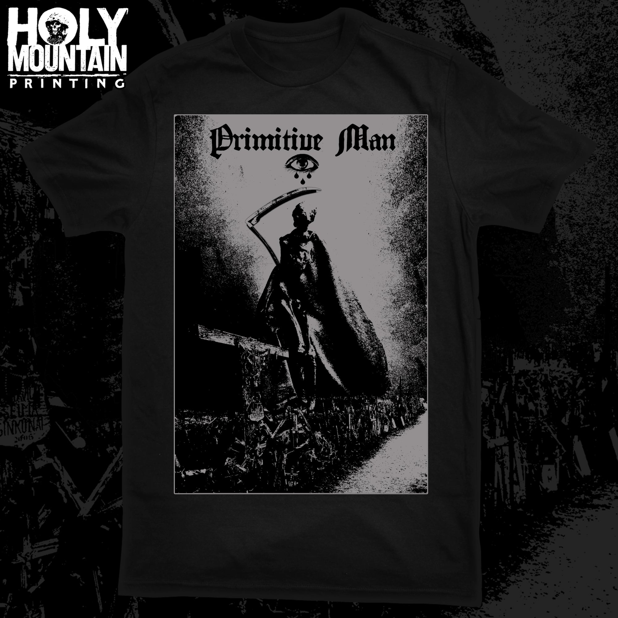 "PRIMITIVE MAN ""GREY DEATH"" SHIRT"