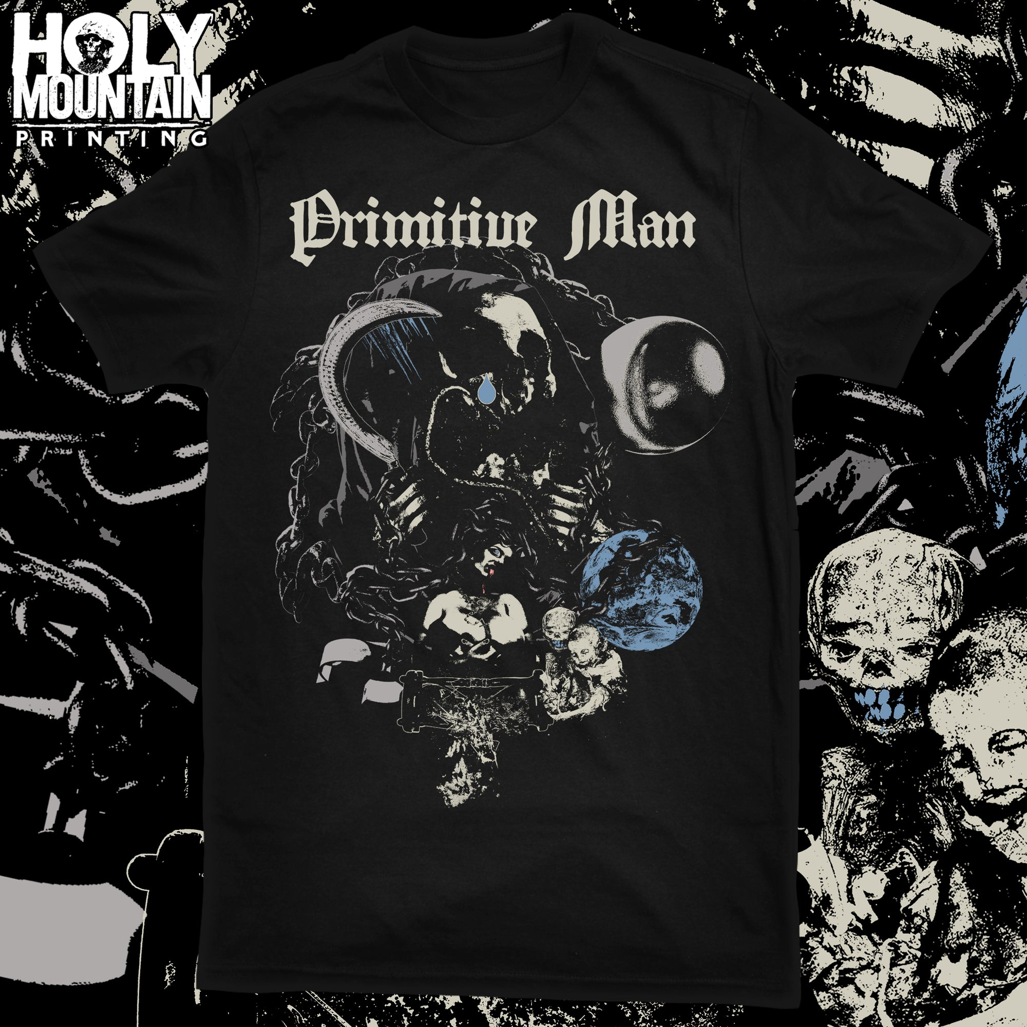 "PRIMITIVE MAN ""HORNY DEATH"" SHIRT"