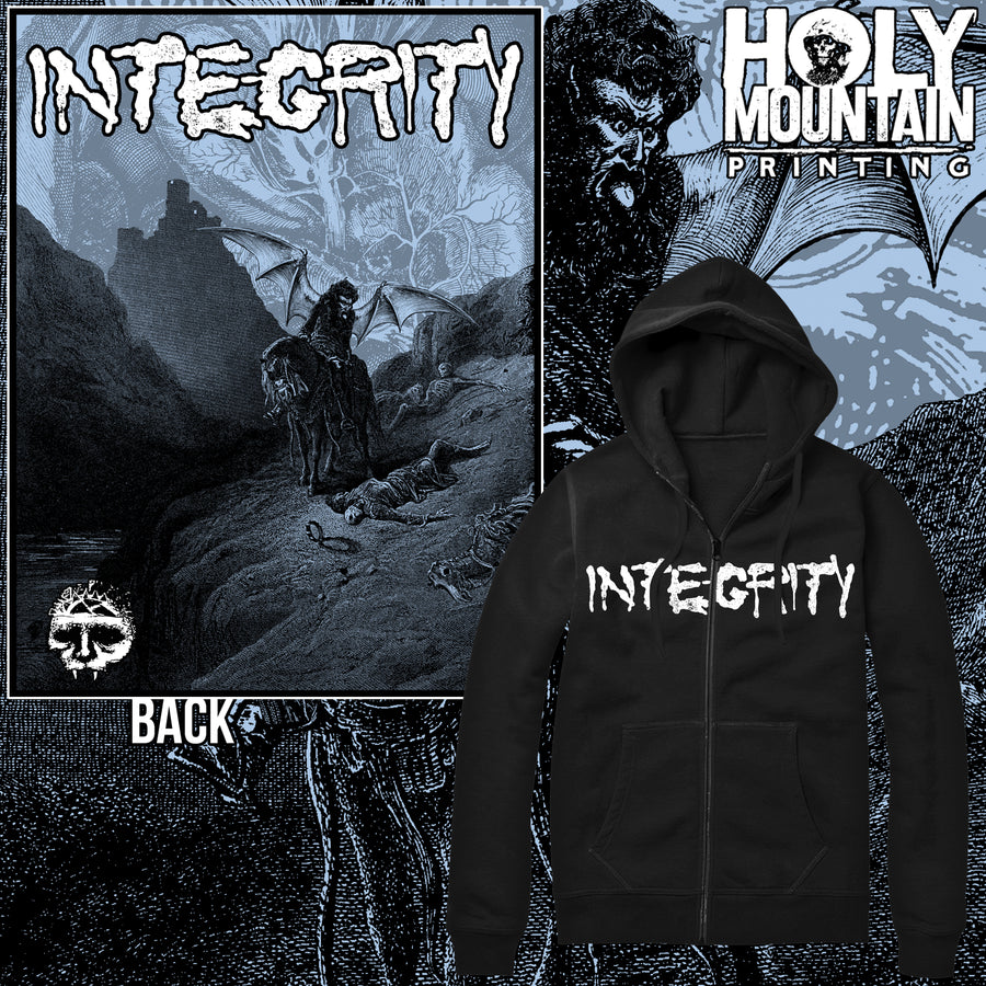 "INTEGRITY ""THE NIGHTMARE SHALL CONSUME"" ZIP UP SWEATSHIRT"