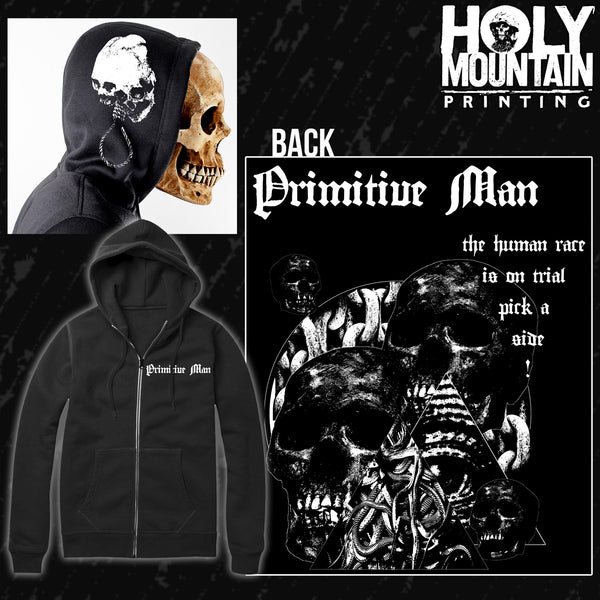 "PRIMITIVE MAN ""HUMAN RACE"" ZIP UP SWEATSHIRT"