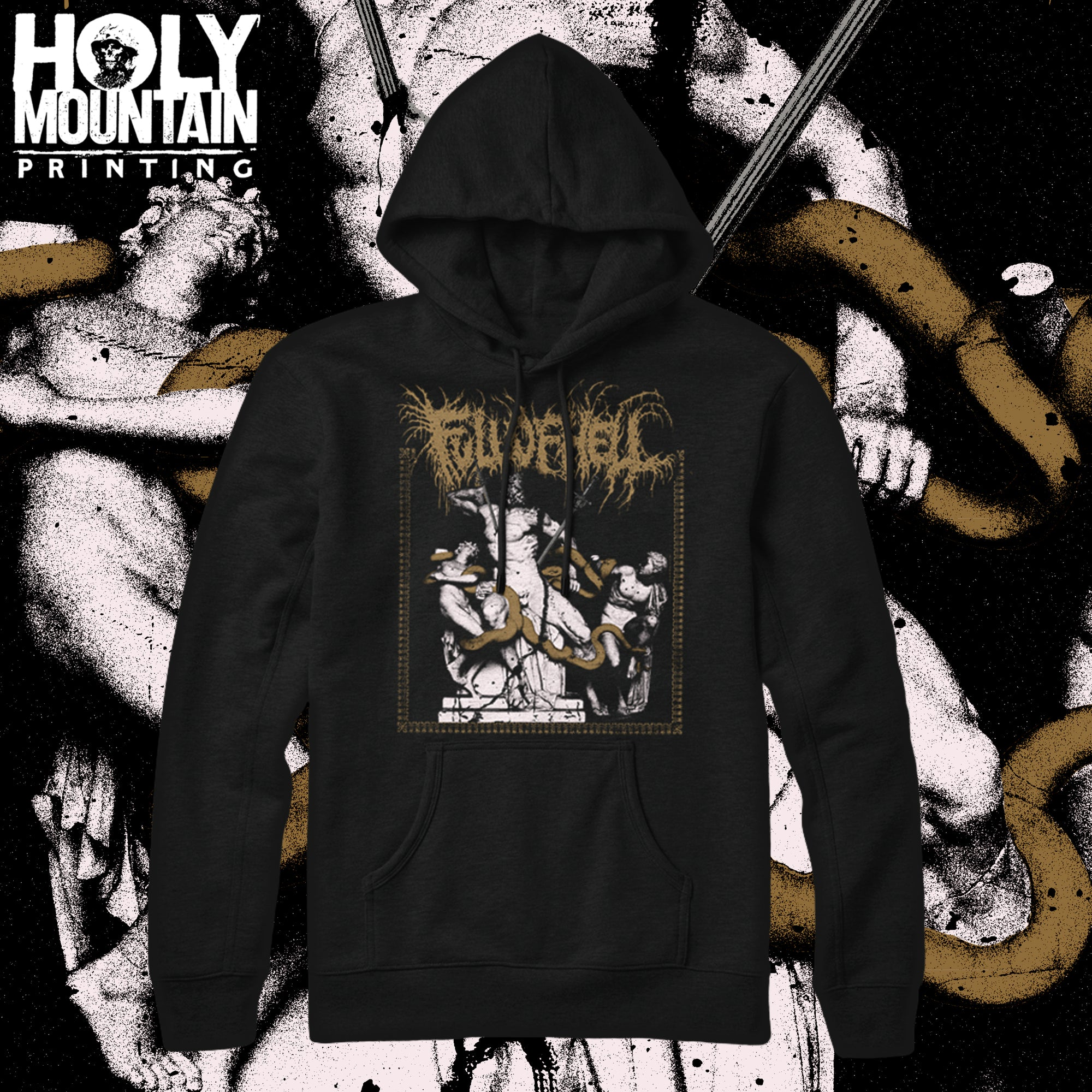 "FULL OF HELL ""HUNTER'S SNARE"" PULLOVER HOOD"