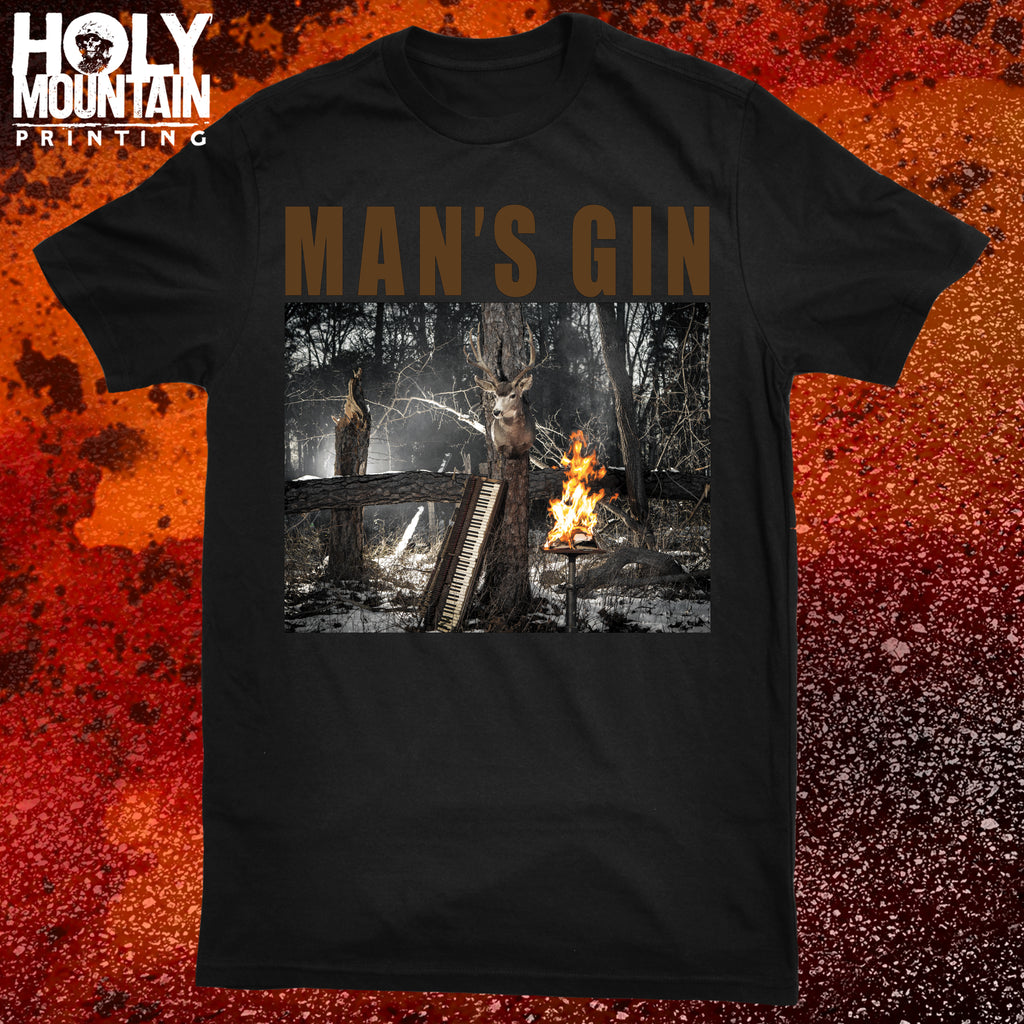 "MAN'S GIN ""REBELION HYMNS"" SHIRT"