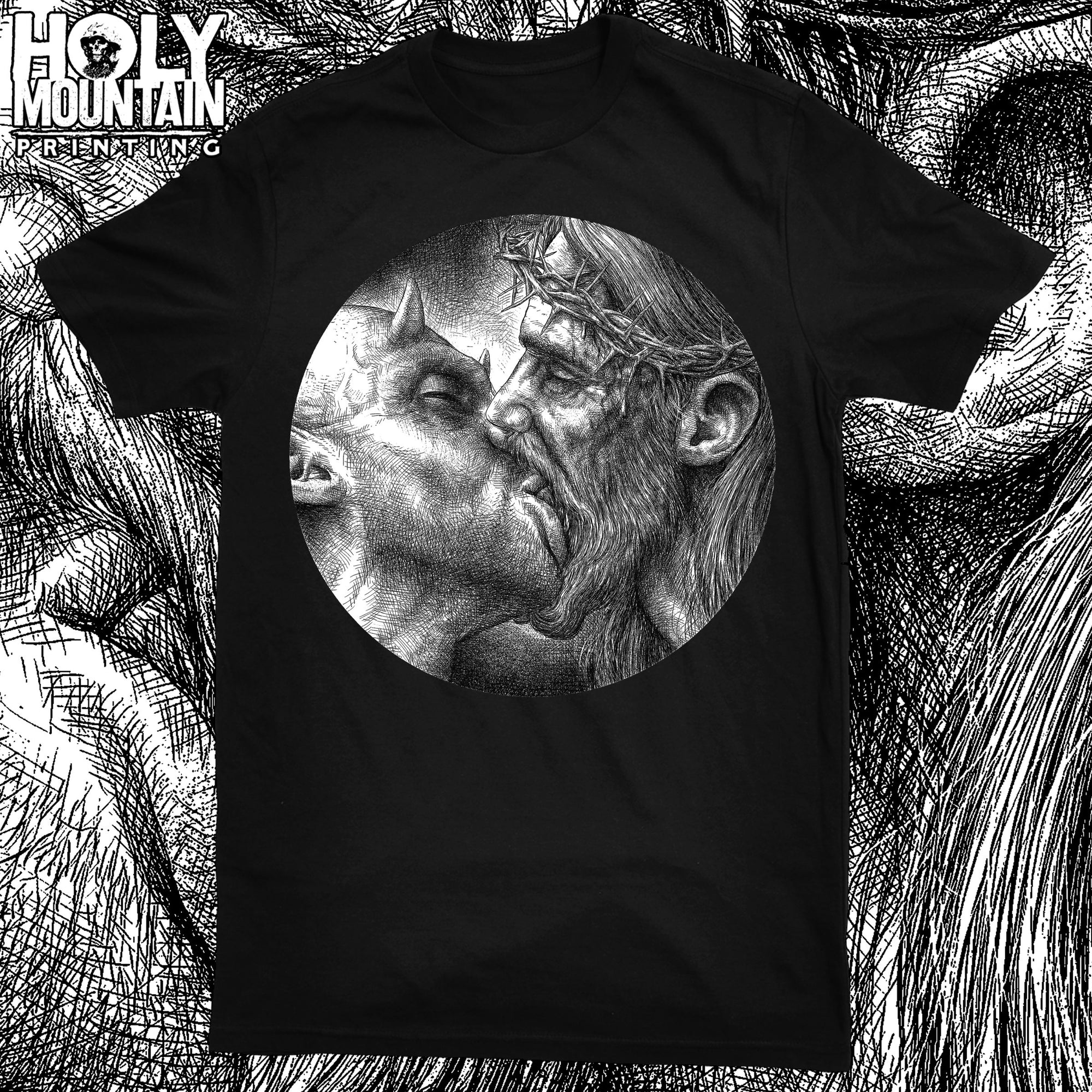 "ABACROMBIE INK ""KISS OF DEATH"" SHIRT"