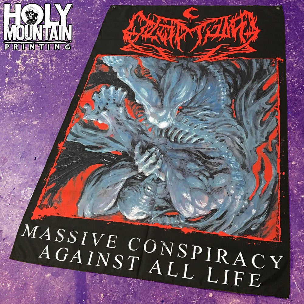 "LEVIATHAN ""MASSIVE CONSPIRACY AGAINST ALL LIFE"" FLAG"