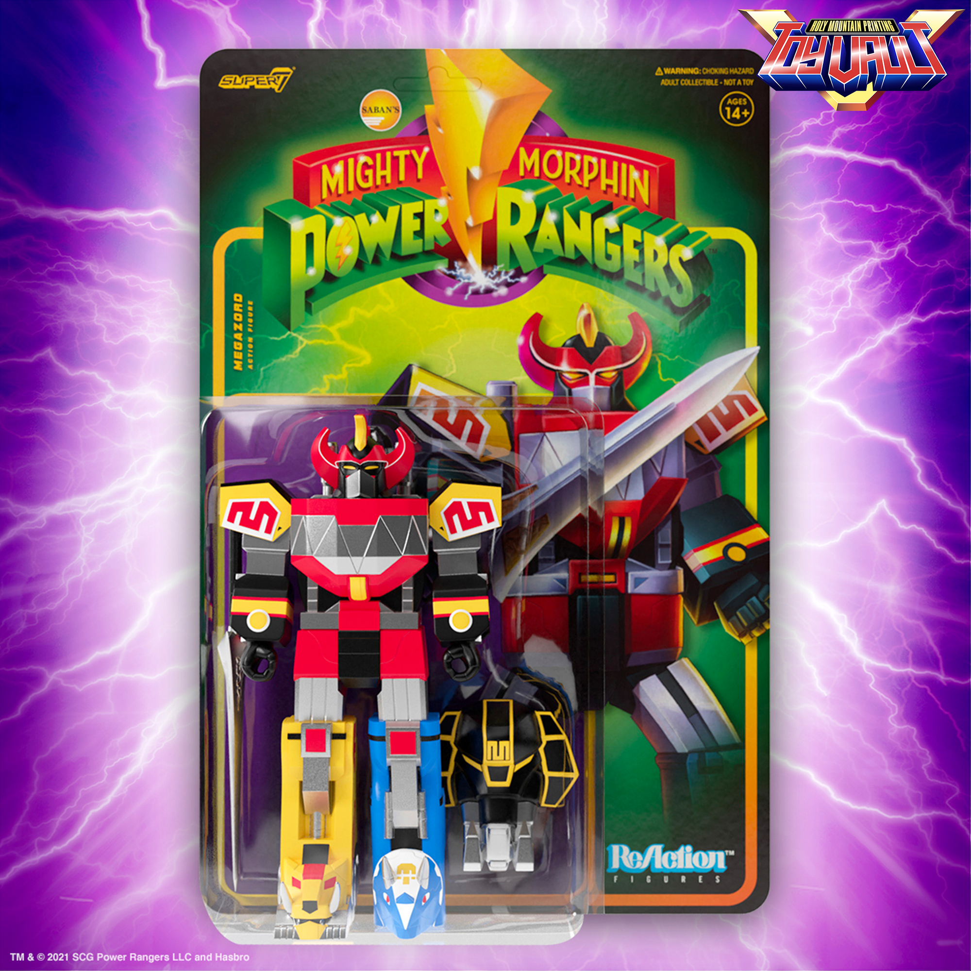 SUPER7 - Mighty Morphin Power Rangers Reaction Figure Wave 1 - Megazord