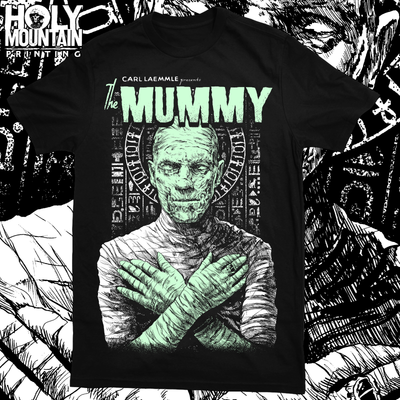 "ABACROMBIE INK ""THE MUMMY GLOW IN THE DARK"" SHIRT"