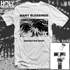 "MANY BLESSINGS ""EMANATION BODY"" WHITE SHIRT"