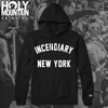 "INCENDIARY ""NEW YORK"" BLACK CHAMPION HOODIE"