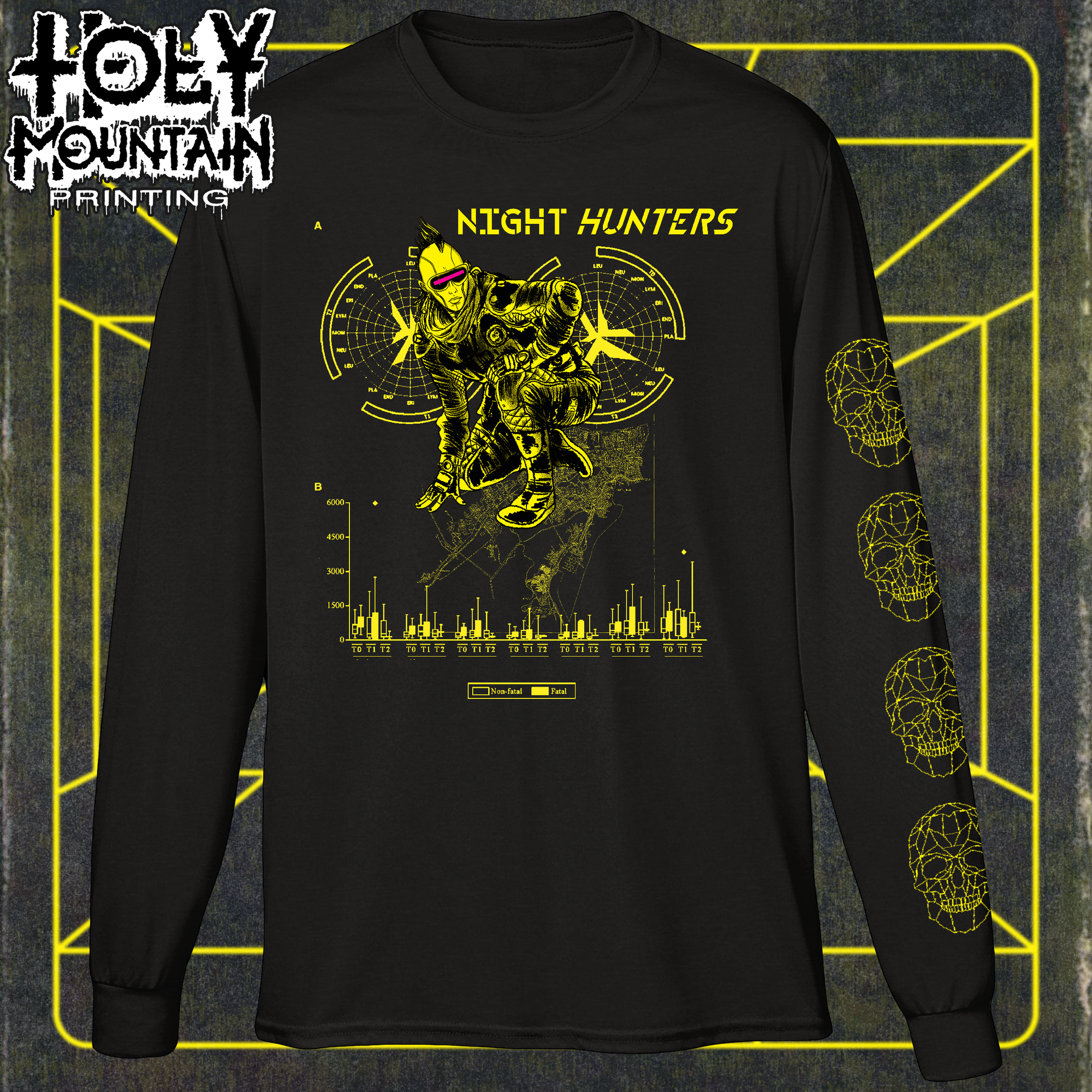 "NIGHT HUNTERS ""FATAL"" LONG SLEEVE SHIRT"