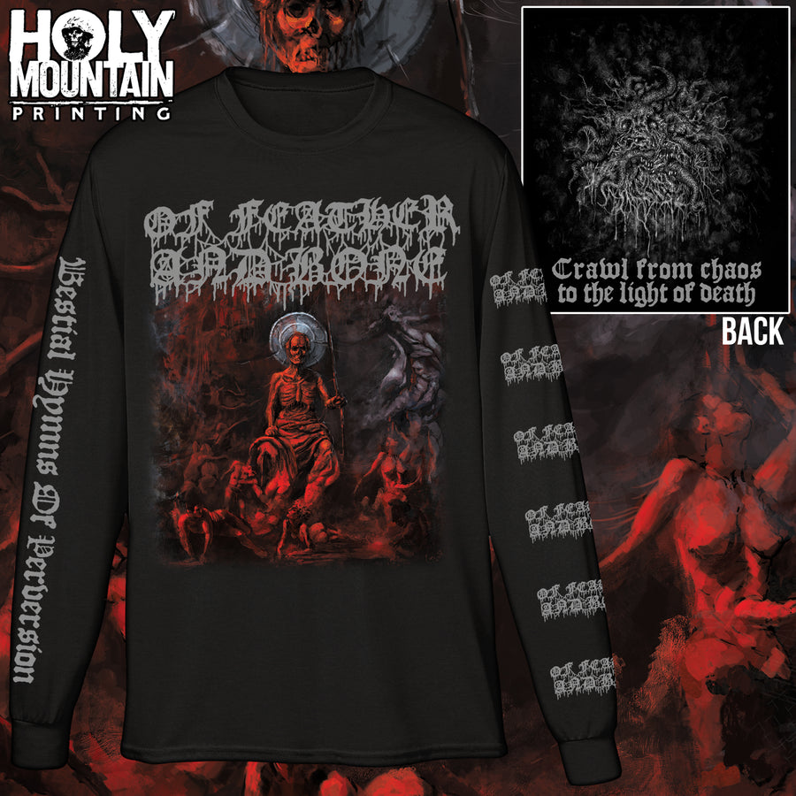 "OF FEATHER AND BONE ""BESTIAL HYMNS OF PERVERSION"" LONG SLEEVE SHIRT"