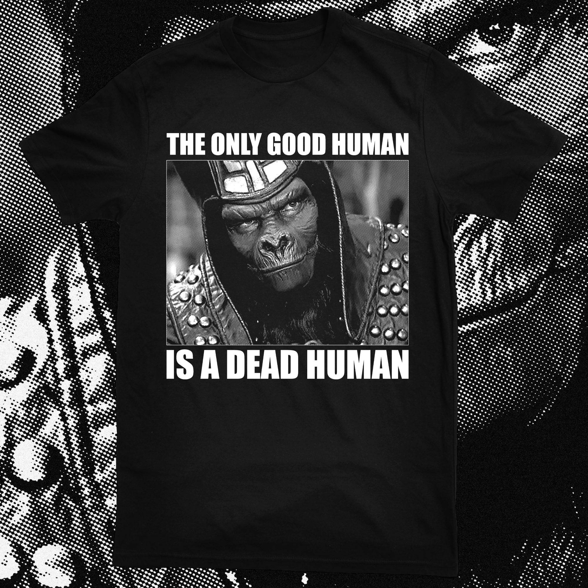 "PLANET OF THE APES ""ONLY GOOD HUMAN"" SHIRT"