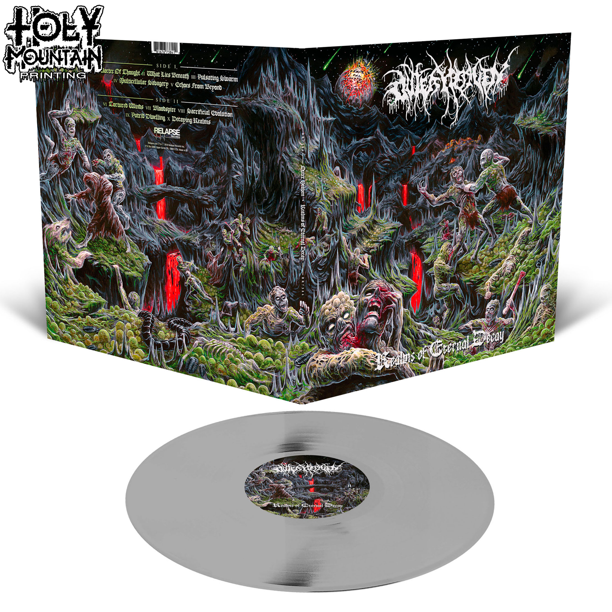 "Outer Heaven ""Realms Of Eternal Decay"" Vinyl Record"