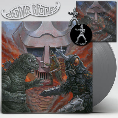 "GODZILLA VS MEGALON 12"" SILVER VINYL DIE HARD PACKAGE"
