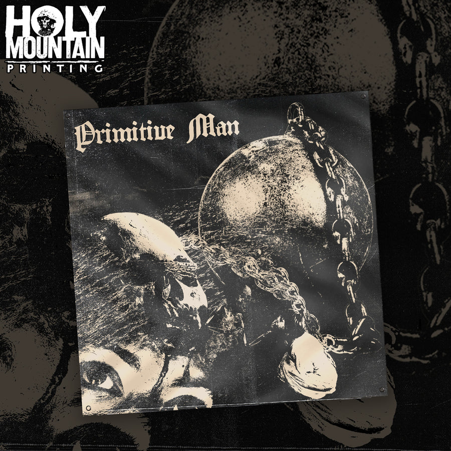 "PRIMITIVE MAN ""CAUSTIC"" FLAG"