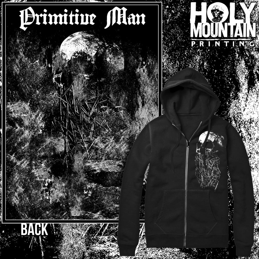 "PRIMITIVE MAN ""SKELETAL"" ZIP UP SWEATSHIRT"