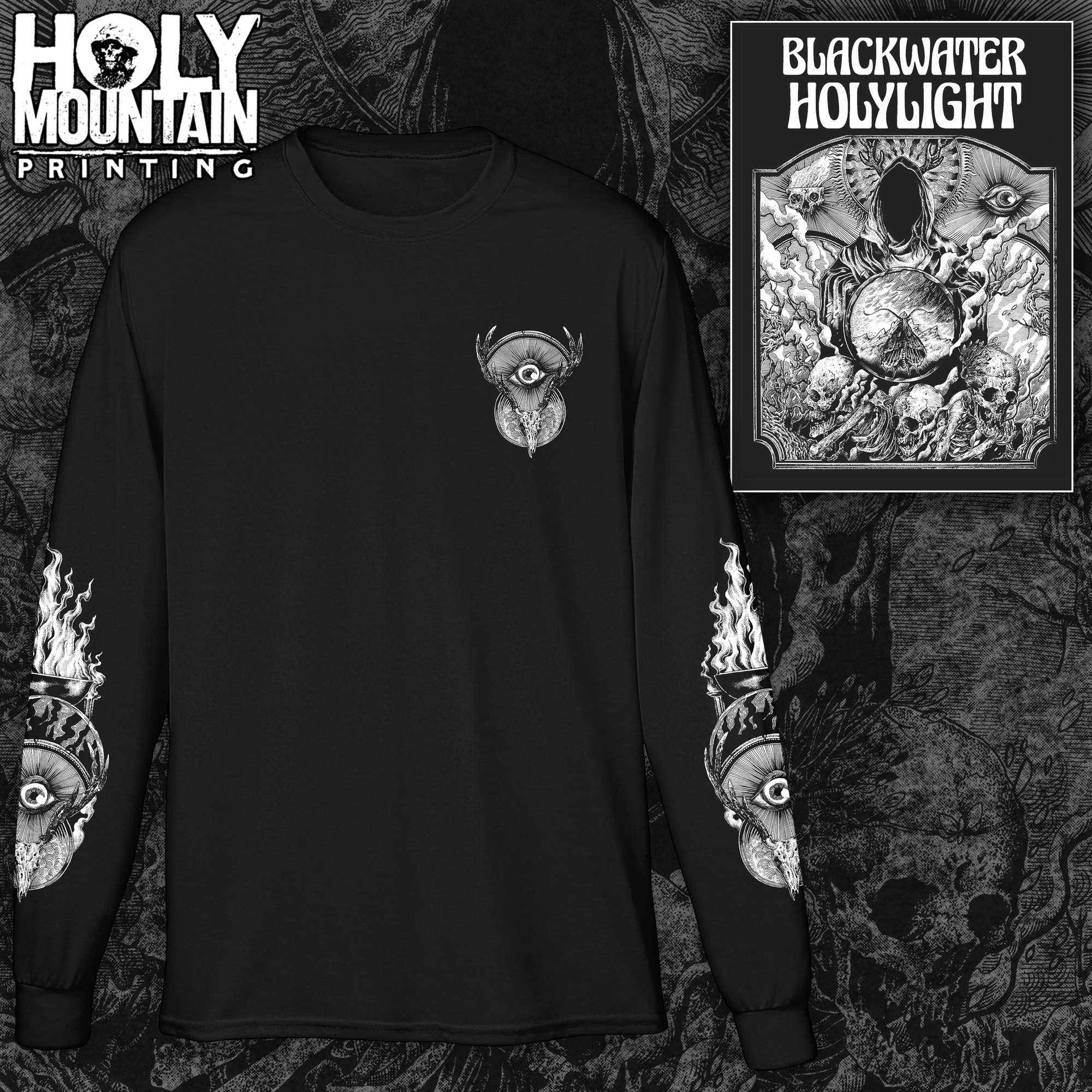"BLACKWATER HOLYLIGHT ""REAPER"" BLACK LONG SLEEVE SHIRT"