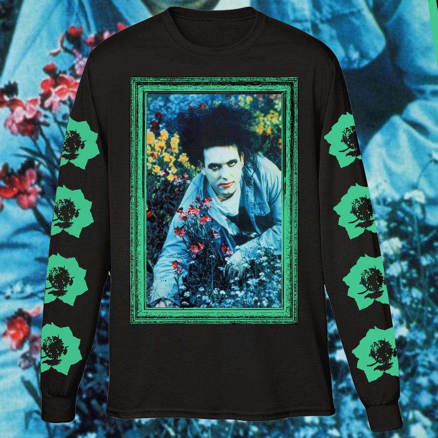 THE HANGING GARDEN LONG SLEEVE BLACK SHIRT