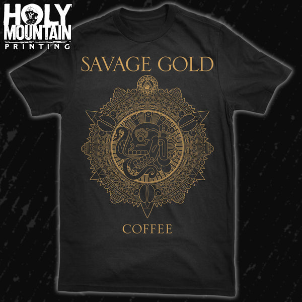 SAVAGE GOLD COFFEE SHIRT
