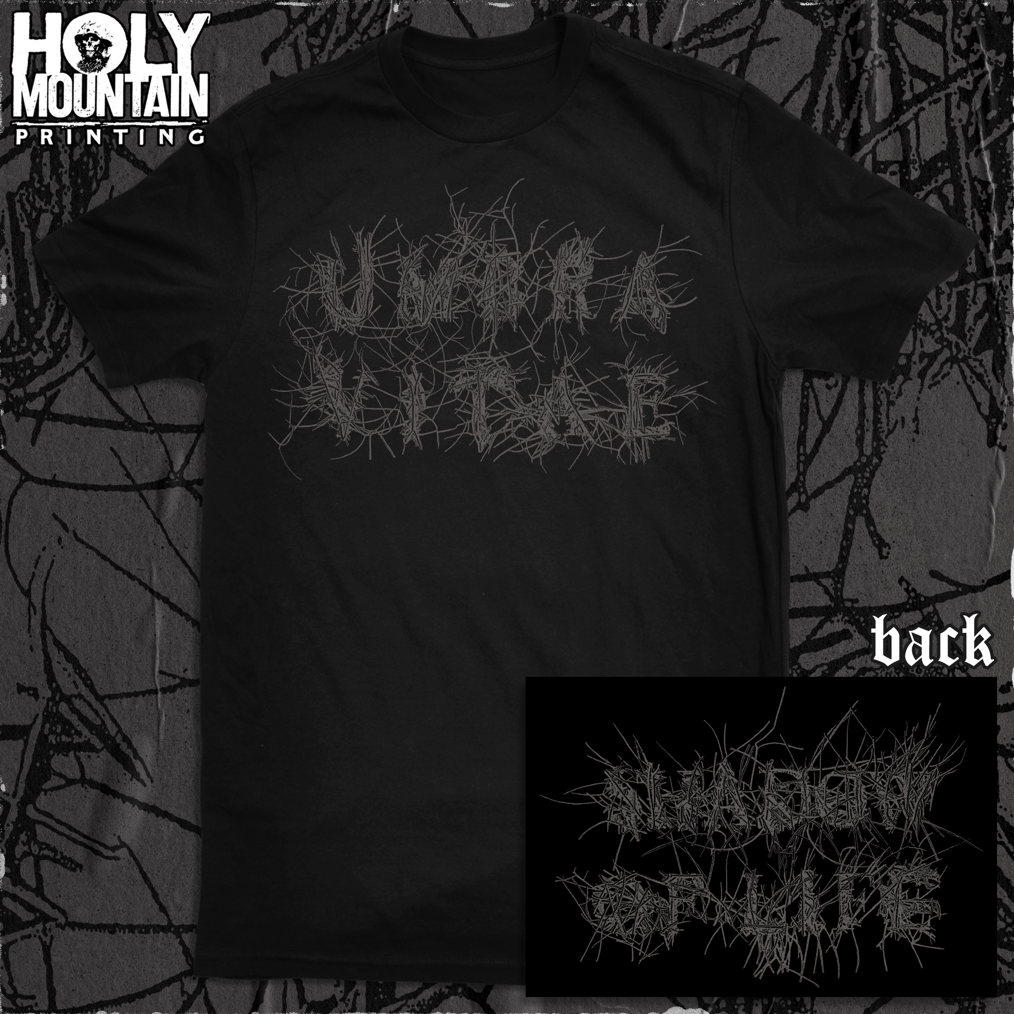 "UMBRA VITAE ""SHADOW OF LIFE"" BLACK SHIRT"